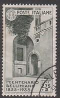 Italy S 393 1935 Vincenzo Bellini Death Centenary,lire 2,75, Used - 1900-44 Vittorio Emanuele III