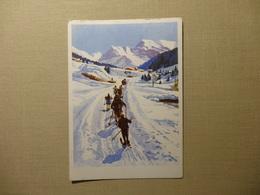 Skiläufer - Weg Zur Schule - (mit Den Ski In Die Schule) Edit : Meerkämpen , Davos (5803) - GR Grisons