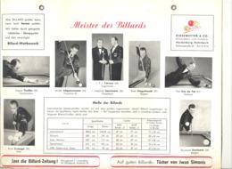 BILLARD / BIJLART - Affiche Platifiée  ( En Allemand)  +/- 1960 (jm) - Manifesti
