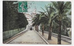 GRASSE EN 1910 - N° 2843 - LE BOULEVARD FRAGONARD - CPA COULEUR  VOYAGEE - Grasse