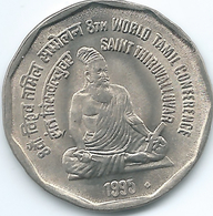 Ndia - 2 Rupees - 1995 - 8th World Tamil Conference - St. Thiruvalluvar - KM128 - India