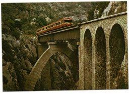 CPM    CHEMIN DE FER COL DU TENDE NICE BREIL CUNEO -   SOSPEL AUTORAIL   PONT DE CAÏ - Trains