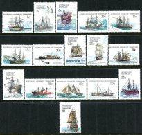 Australian Antarctic Territory 1979-81 Ships Set MNH (SG 37-52) - Australian Antarctic Territory (AAT)
