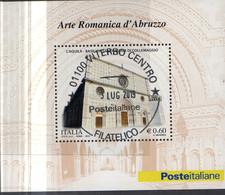 PIA  -  ITALIA  -  2010  : Arte Romanica In Abruzzo - Basilica Santa Maria Di Collemaggio  -   (SAS  Bf  61) - Hojas Bloque