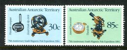 Australian Antarctic Territory 1984 75th Anniversary Of Magnetic Pole Expedition Set MNH (SG 61-62) - Australian Antarctic Territory (AAT)