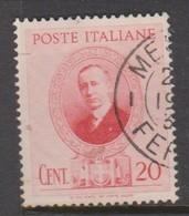 Italy S 436 1938 Guglielmo Marconi,20c Rose Pink, Used - Usados