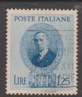 Italy S 438 1938 Guglielmo Marconi,lire 1,25 Blue, Used - Usados