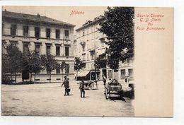 """MILANO - SCUOLA TECNICA """"G.B. PIATTI"""" VIA FORO BONAPARTE - NON VIAGGIATA - Milano (Mailand)"""