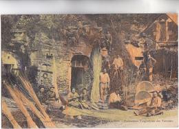 CPA - 37 - VILLAINES - Habitaions Troglodytes Des VANNIERS Au TRAVAIL - CARTE ANC PEU COMMUNE EN COULEUR -  1914 - Autres Communes