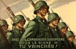 @@@ MAGNET - Avec Tes Camarades Européens Sous Le Signe SS Tu Vaincras! - Pubblicitari