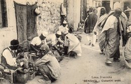 LIBIA ITALIANA - BENGASI - CIABATTINI ARABI - NON VIAGGIATA - Libya