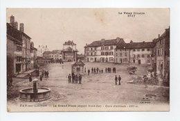 - CPA FAY-SUR-LIGNON (43) - La Grand'Place 1932 (avec Personnages) - Editions Margerit-Brémond 3717 - - France