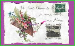 CPA (27 Eure) - SAINT ST PIERRE DU VAUVRAY Chomo Colle Je Vous Envoi Ces Fleurs Panier Colombe Quai Des Lavandiers - France