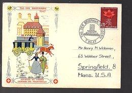 Tag Der Briefmarke 1947 To Springfield USA (624) - Schweiz