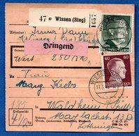 Colis Postal  -  De Wissen ( Sieg )   - Pour Waldheim - Covers & Documents