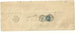 Lettre Facture Timbre Sage Daguin De Bar Le Duc Meuse Erreur Dateur Novembre Et Octobre 1891 - Marcophilie (Lettres)