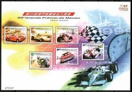 Macau 2003 Macao / Racing Cars Motorcycle MNH Automobiles Coches De Carrera Motos / Cu14137  41-47 - Coches