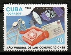 Cuba 1983 / World Telecommunications Year MNH Año Mundial De Las Comunicaciones / Cu12026  18-22 - Telecom