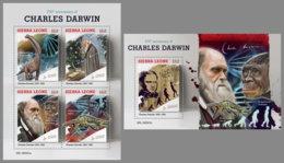 SIERRA LEONE 2019 MNH Charles Darwin Dinosaurs Dinosaurier Dinosaures M/S+S/S - OFFICIAL ISSUE - DH1927 - Prehistóricos