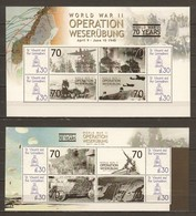 St Vincent Grenadines MNH Limited Edition Set  2 WORLD WAR 2 OPERATION WESERUBUNG - AIRPLANES - WW2