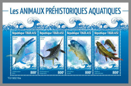 TOGO 2019 MNH Prehistoric Water Animals Wassersaurier Dinosaure Eau M/S - OFFICIAL ISSUE - DH1927 - Stamps