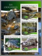 TOGO 2019 MNH Crocodiles Krokodile M/S - OFFICIAL ISSUE - DH1927 - Reptiles & Batraciens