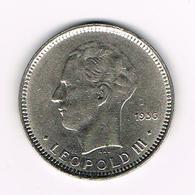 //  LEOPOLD III  5 FRANK  RAU 1936 FR POSITIE B - 1934-1945: Leopold III