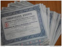 LOT De 10 Chargeurs Reunis  Cie De Navigation à Vapeur 1921 - Aandelen