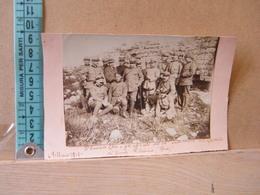 MONDOSORPRESA,  FOTOGRAFIA, RODI, IL GENERALE ELIA E GLI UFFICIALI DEL 34° SULLE ROVINE DEL CASTELLO MONTE FILEREMO,1918 - Guerra, Militari