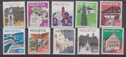 Switzerland 1973 Definitives 10v ** Mnh (43499) - Zwitserland
