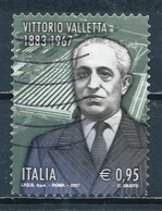 °°° ITALIA 2017 - VITTORIO VALLETTA °°° - 6. 1946-.. Repubblica