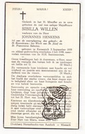 DP Sibilla Willen ° Kessenich Kinrooi 1858 † 1949 X Johannes Henkens - Images Religieuses