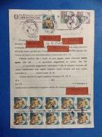 CASTELLI STRISCIA DI 5 CASTELLO 50 X2 + 50 + COPPIA 1000 SU MODELLO 489 POSTE - 6. 1946-.. Repubblica