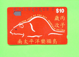 NORFOLK ISLAND - Magnetic Phonecard/Year Of The Rat - Norfolk Island