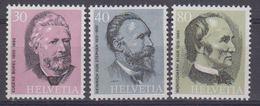 Switzerland 1974 Founders Of UPU 3v ** Mnh (43501) - Zwitserland