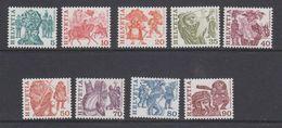 Switzerland 1977 Definitives / Volksbräuche 9v ** Mnh (43502) - Zwitserland
