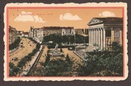 Budapest - Museum Körút - Animée. Strassenbahn, Tramway - Hongrie