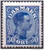 DENEMARKEN 1913-1925 30öre Blauw Christian X PF-MNH - 1913-47 (Christian X)