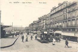 650. ROUEN . QUAI DE PARIS + TRAMS AU 1er PLAN . CARTE NON ECRITE - Rouen