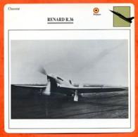 Fiche Aviation RENARD R 36   / Avion Chasseur Belgique Avions - Aviones