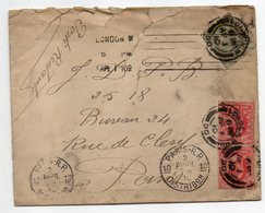 Grande-Bretagne--1910-Lettre De LONDRES Pour PARIS (France)-poste Restante--timbres -cachets - 1902-1951 (Kings)