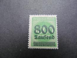 DR Nr. 308Ab, 1923, Freimarken, Postfrisch/MNH/**, BPP Geprüft, BS - Deutschland