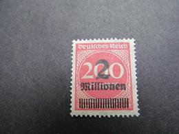 DR Nr. 309APa, 1923, Freimarken, Postfrisch/MNH/**, BPP Geprüft, BS - Alemania