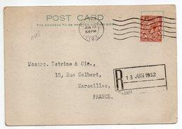 Grande-Bretagne--1932- 2 Cartes Postales LONDRES Pour MARSEILLE (France)-timbres -cachets-Allen & Sons - 1902-1951 (Rois)