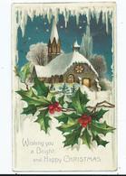 Christmas Postcard  Wishing You A Bright And Happy Christmas Posted 1907 - Navidad
