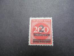 DR Nr. 309APb, 1923, Freimarken, Postfrisch/MNH/**, BPP Geprüft, BS - Alemania