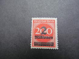 DR Nr. 309APc, 1923, Freimarken, Postfrisch/MNH/**, BPP Geprüft, BS - Alemania