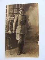 1917  BARI FOTO  LATTANZI     MILITARE    MILITARI   FOTOCARTOLINA  FORMATO  PICCOLO NON VIAGGIATA Fotografica - Uniformi