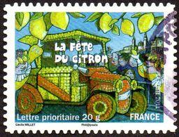 Oblitération Cachet à Date Sur Autoadhésif De France N°  586 - Fêtes Et Traditions - La Fête Du Citron De Menton - Luchtpost