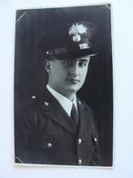 1936 ROMA FOTO MICHELI   REALE CARABINIERE  CARABINIERI    MILITARE    FOTOCARTOLINA  FORMATO  PICCOLO NON VIAGGIATA - Uniformi